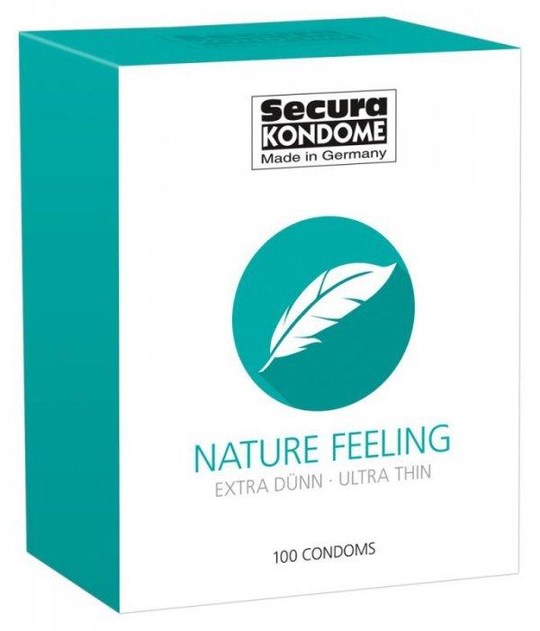 Prezerwatywy Nature Feeling bardzo cienkie 100 szt. Secura