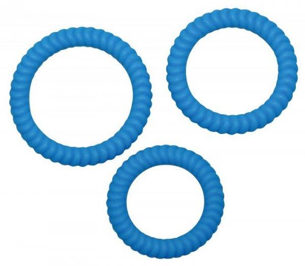 Silikonowe ringi niebieskie 3 szt.