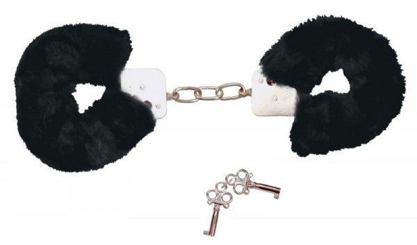 Kajdanki z futerkiem Bad Kitty czarne