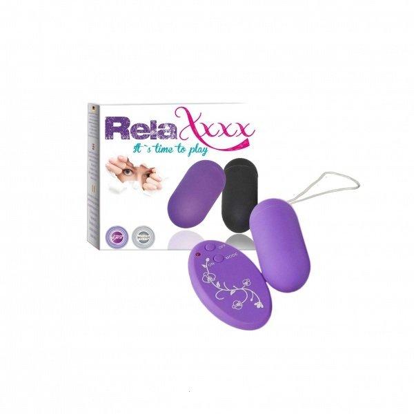 Wibrujące jajko RelaXxxx fioletowe
