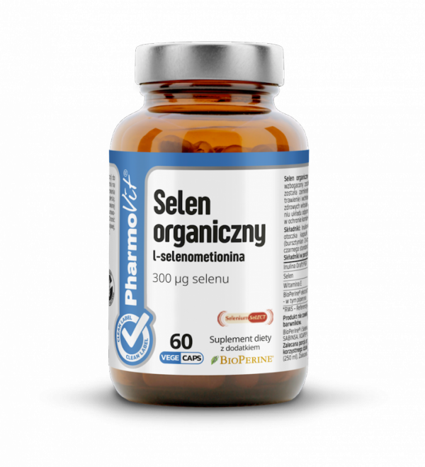 Selen organiczny L-selenometionina - 60 kapsułek Vcaps® PharmoVit