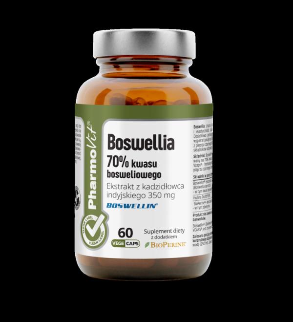 Boswellia 70% kwasu bosweliowego Ekstrakt z kadzidłowca indyjskiego 350 mg- 60 kapsułek Vcaps® PharmoVit