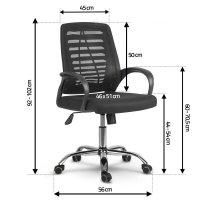 Fotel biurowy obrotowy z mikrosiatki Sofotel Hunza czarny
