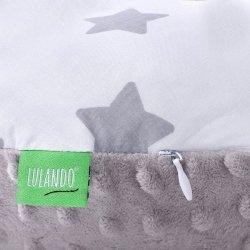 Lulando Poduszka do karmienia MINKY szary+ biały w szare gwiazdki