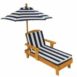 KidKraft Drewniany leżak ogrodowy z parasolem