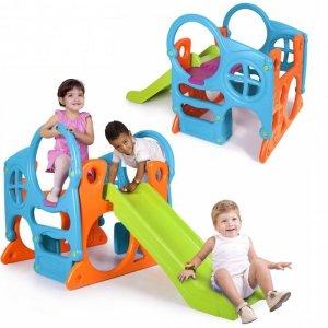 FEBER Duży Plac Zabaw Activity Center Zjeżdżalnia 100 cm Ścianka Wspinaczkowa Kształty