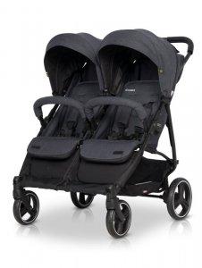 EASY GO Wózek dla bliźniąt DOMINO COAL