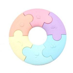 Pierwsze puzzle sensoryczne, pastelowe kółko, Jellystone Designs