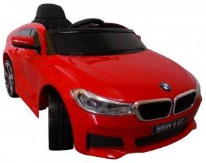 BMW 6GT czerwony Miękkie koła Eva, miękki fotelik Licencja