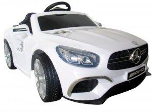 Mercedes SL63 biały Miękkie koła Eva, miękki fotelik Licencja
