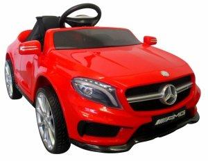 Mercedes GLA45 czerwony Miękkie koła Eva, miękki fotelik Licencja