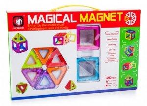 Kolorowe klocki magnetyczne MAGICAL MAGNET 20SZT #E1