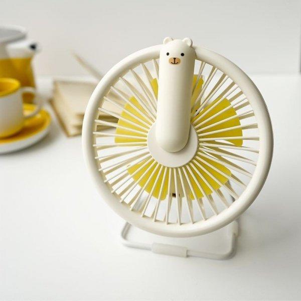 Wiatraczek-lampka miś kremowy