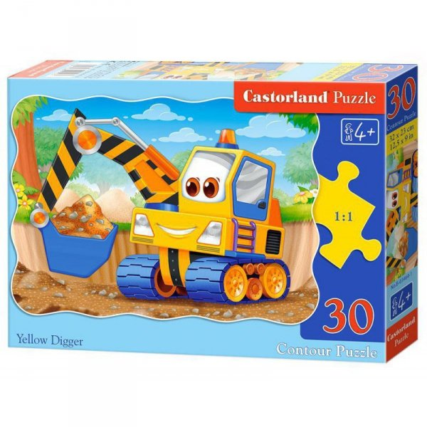 Puzzle 30 el. yellow digger