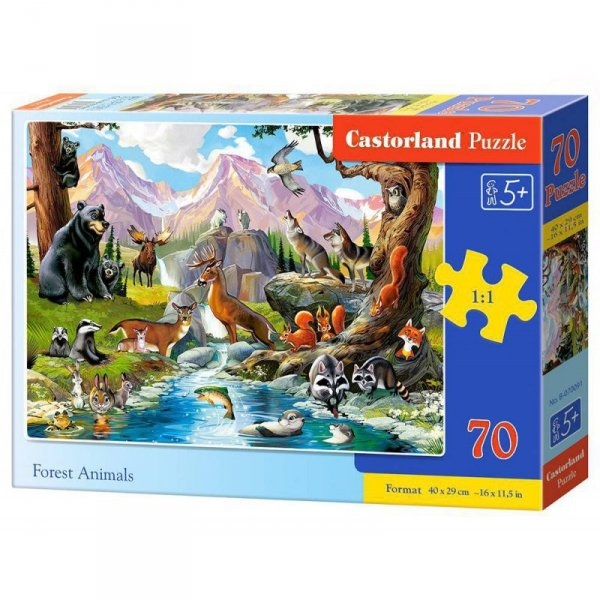 Puzzle 70 forest animals