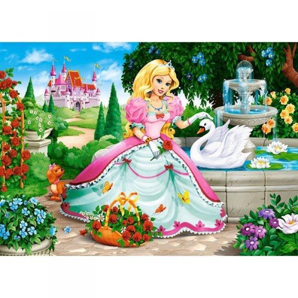 Puzzle 60el.princess with swan