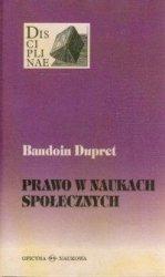 Prawo w naukach społecznych Baudoin Dupret