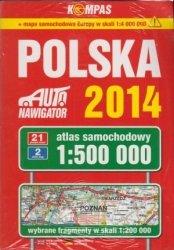 Polska 2014 atlas samochodowy 1:500 000 + mapa samochodowa Europy w skali 1:4 000 000
