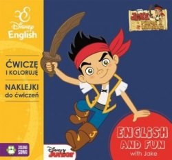 Jake i Piraci z Nibylandii Ćwiczę i koloruję z naklejkami  English and fun with Jake