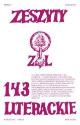 Zeszyty literackie 143