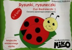 Rysunki rysuneczki Zuzi Biedroneczki 3-4 latki Nauczanie przedszkolne Ćwiczenia usprawniające piszącą rączkę Małgorzata Podleśna