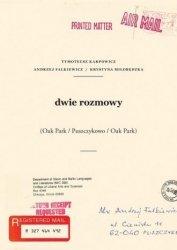 Dwie rozmowy Tymoteusz Karpowicz, Andrzej Falkiewicz, Krystyna Miłobędzka