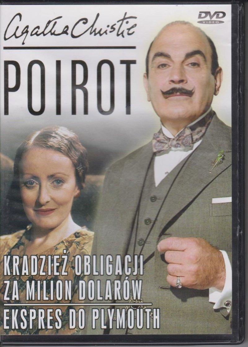 Poirot Agatha Christie cz. 13 Kradzież obligacji, Za milion dolarów, Ekspres do Plymouth DVD