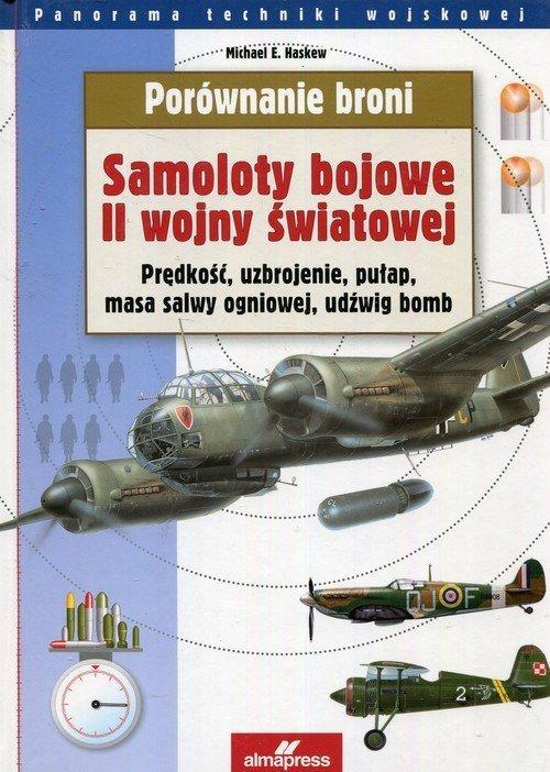 Porównanie broni Samoloty bojowe II wojny światowej Prędkość, uzbrojenie, pułap, masa salwy ogniowej, udźwig bomb Michael E. Haskew