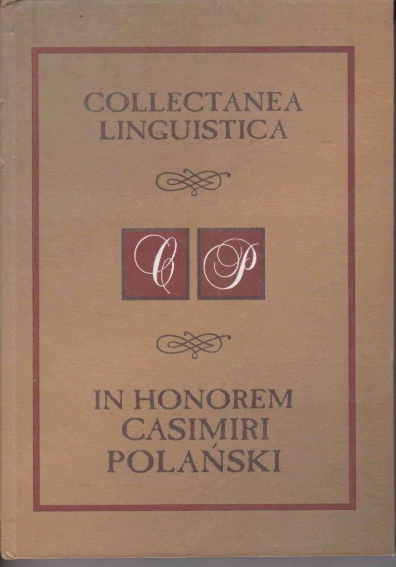 Collectanea Linguistica In Horem Casimiri Polański