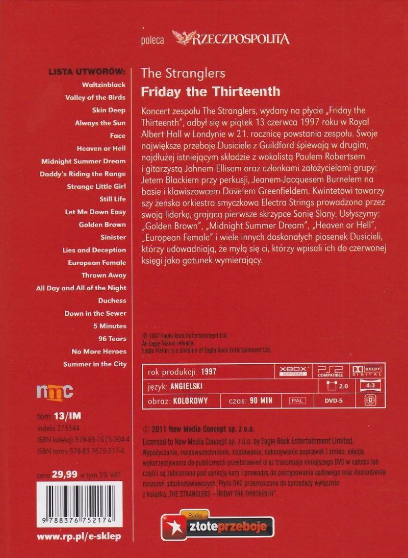 The Stranglers Friday The Thirteenth Live książka + koncert