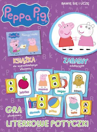 Świnka Peppa Bawię się i uczę Literowe potyczki