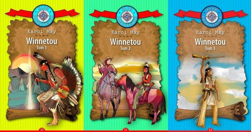 Winnetou Komplet Część 1-3  Kolekcja Klub Podróżnika Karol May