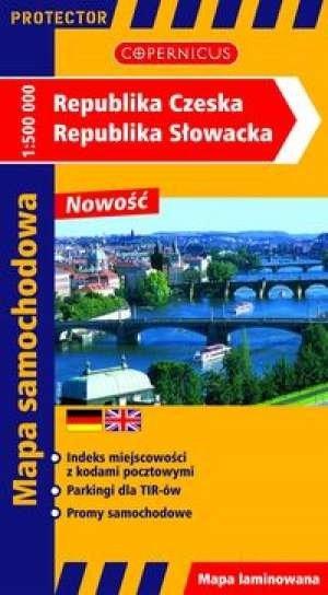 Mapa samochodowa Republika Czeska Republika Słowacka 1:500 000