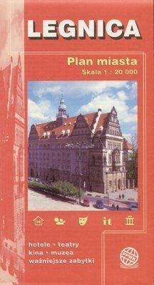 Legnica Plan miasta w skali 1:15 000
