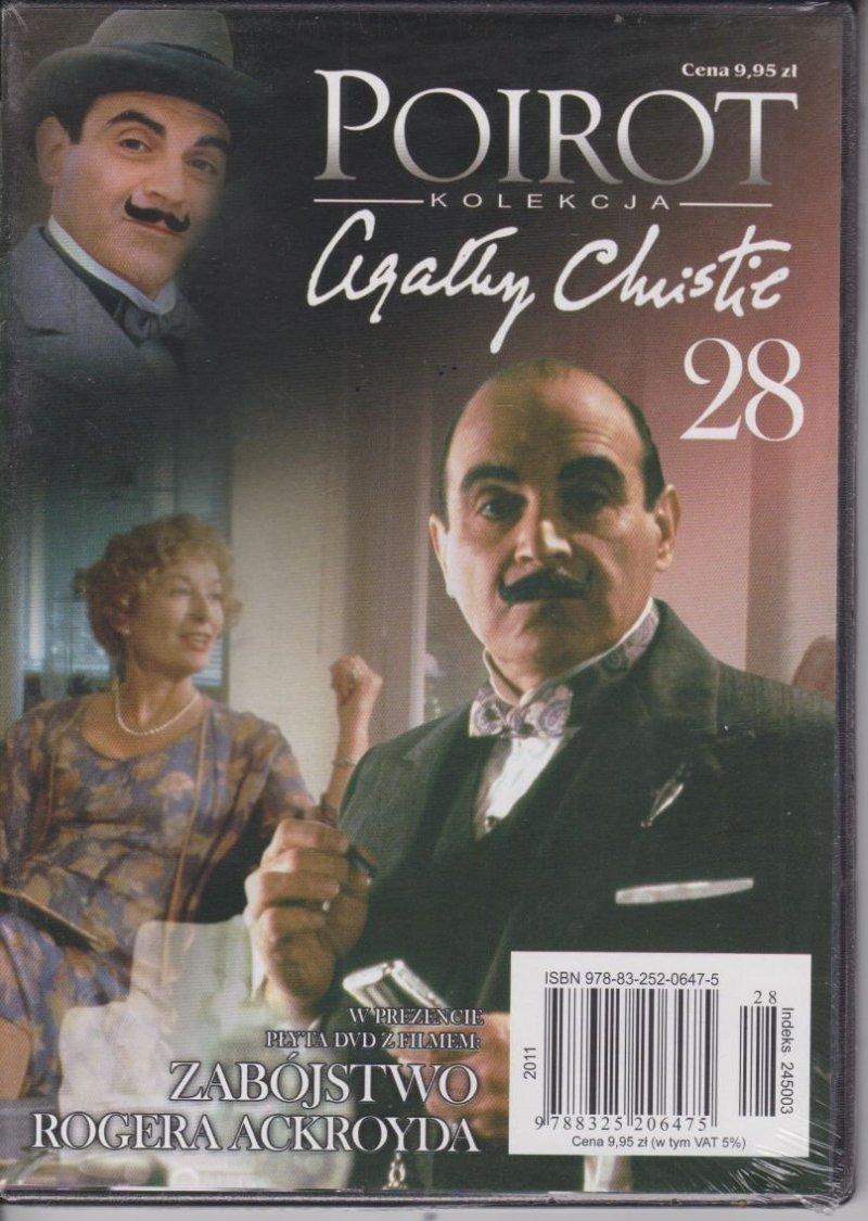 Agatha Christie Poirot cz. 28 Zabójstwo Rogera Ackoyda DVD