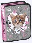 Piórnik dwuklapkowy bez wyposażenia Mlf Cat Pink