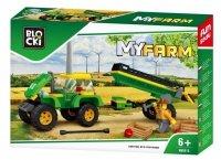 KLOCKI BLOCKI MYFARM FARMA TRAKTOR PRZYCZEPA 164 EL.