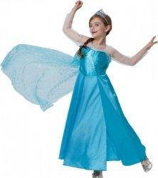 Strój Księżniczka Lodu Frozen 116 Kostium Sukienka