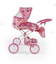 Wózek dla lalek Paulina Różowo-Brązow #B1