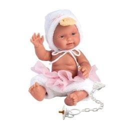 Hiszpańska lalka bobas dziewczynka Bebita Kaczuszka 26cm #T1