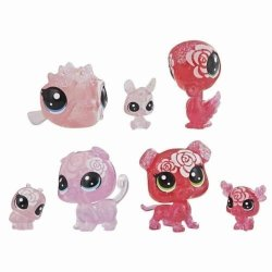 LITTLEST PET SHOP RÓŻANE 7 FIGUREK LPS HASBRO