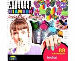 BROKATOWE PAZNOKCIE ATLELIER GLAMOUR 89 ELEMENTÓW