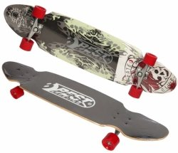 DESKOROLKA LONGBOARD BEST SPORTING PIRATE CLUB 109x26cm#H1