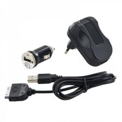 Uniwersalny zestaw ładujący 3w1, dla iPhone, sieć/samochód/USB