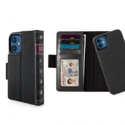 Twelve South BookBook - etui skórzane z klapką do iPhone 12 mini kompatybilne MagSafe (czarne)