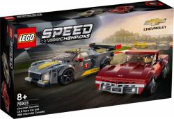 LEGO 76903 Samochód wyścigowy Chevrolet Corvette C8.R i 1968 Chevrolet Corvette
