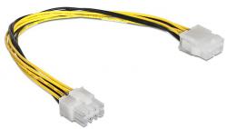 Kabel zasilający DELOCK EPS 8-pin - EPS 8-pin 0.3m. 83342