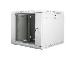 Szafa instalacyjna wisząca 19'' 9U 600X600mm szara (drzwi        szklane)