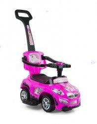 Jeździk Pojazd Happy 3 w 1 Różowy #B1
