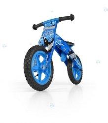 Drewniany rowerek biegowy Flip Niebieski #B1